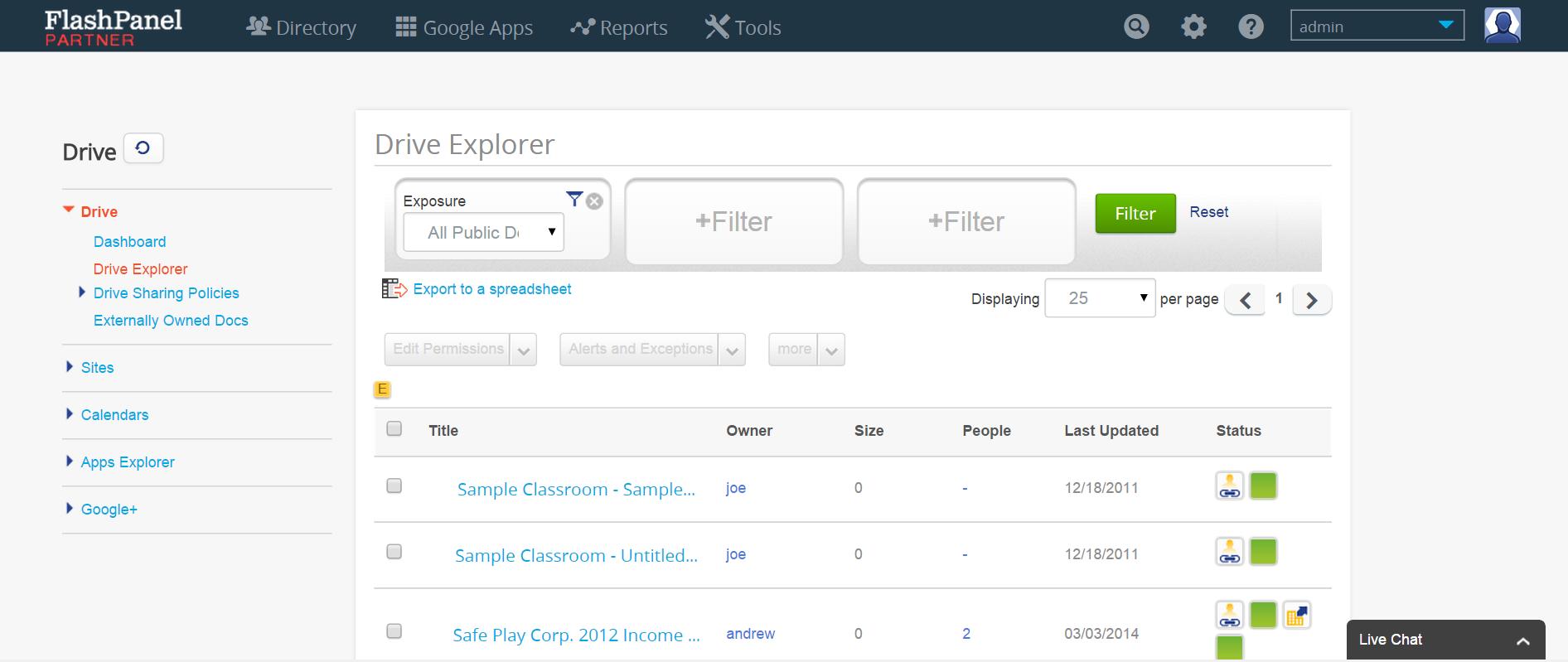 FlashPanel Drive Explorer