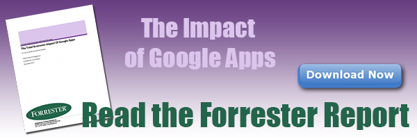 Download the Forrester Report on the Total Economic Impact of Google Apps