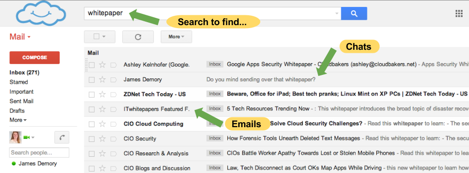 Google Apps vs. Outlook | Search your Inbox to find emails and chats