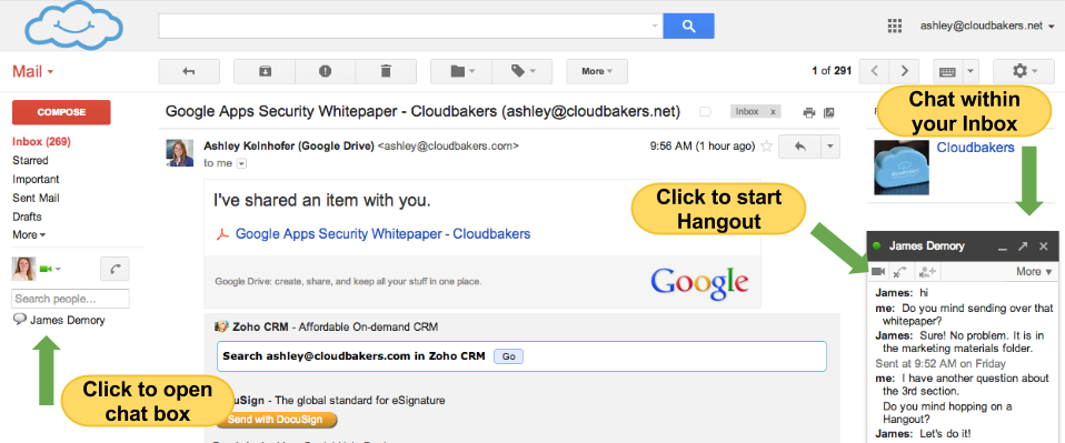 Google Apps vs. Outlook | Email to Chat to Video Hangout