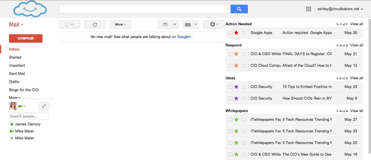 Multiple Inboxes in Gmail lets you set up your inbox like a to-do list