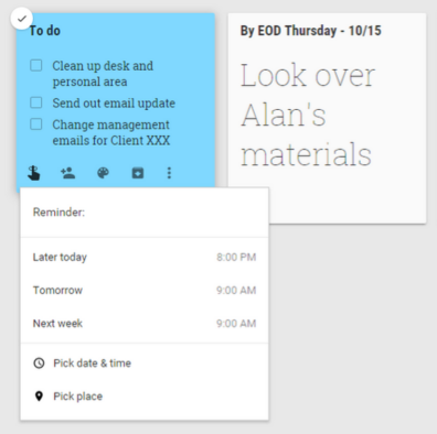 Set Reminders for Google Keep Notes | Cloudbakers