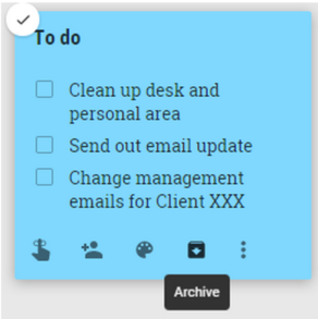 Archive Google Keep Notes | Cloudbakers