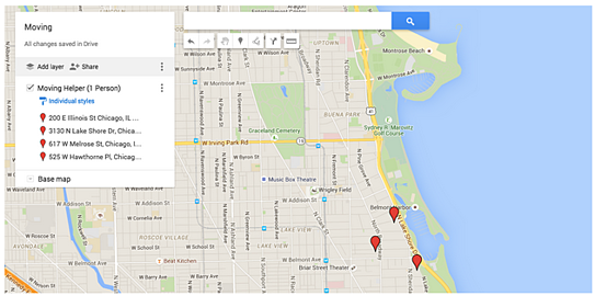 Chicago House/Office Hunting Map   Cloudbakers
