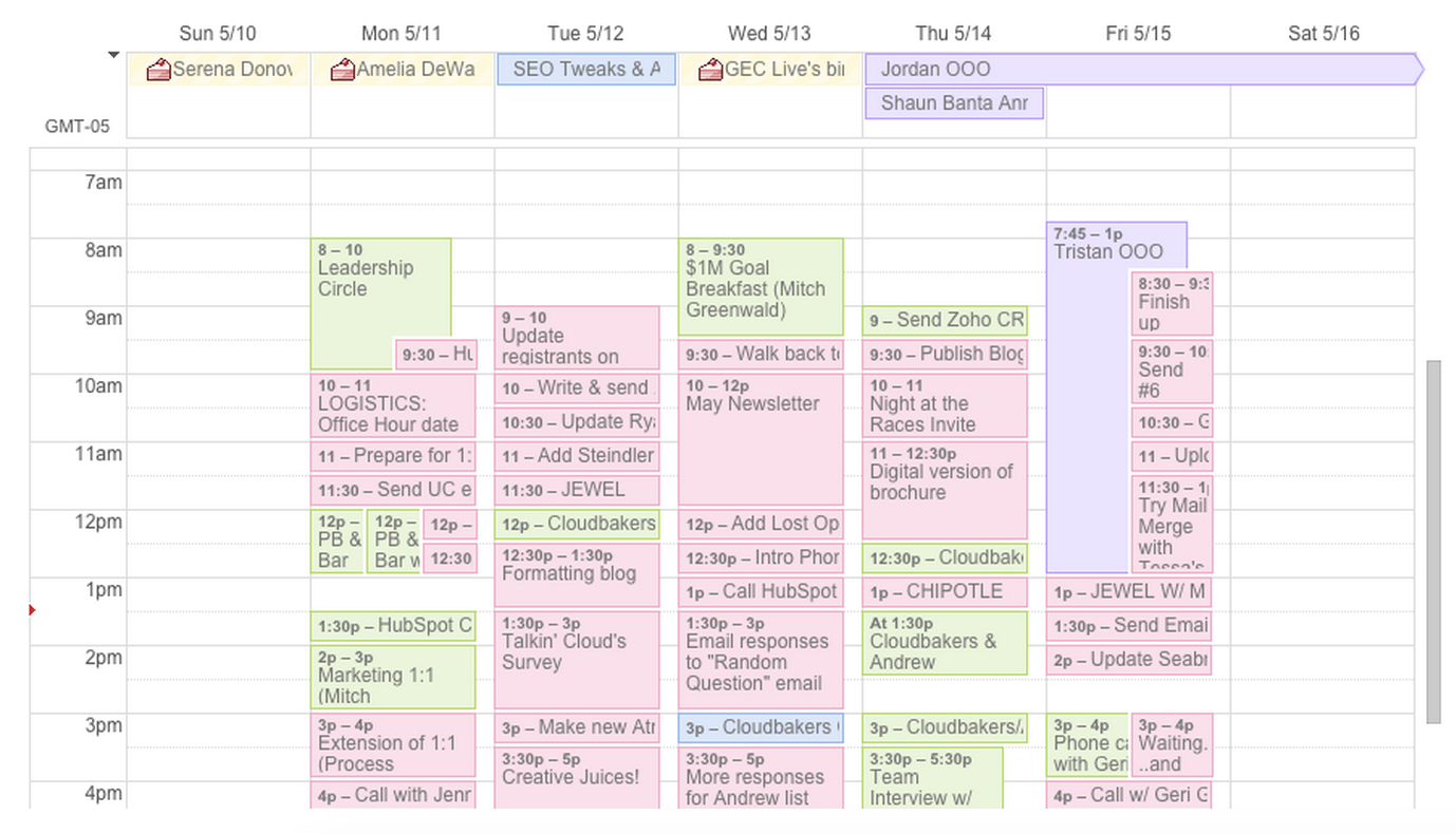 Work Calendar in Google | Cloudbakers