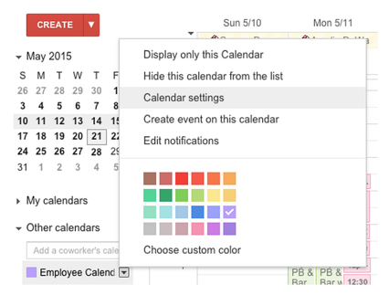 Export Shared Calendar via Settings | Cloudbakers