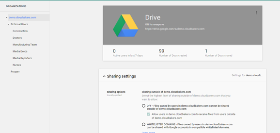 Drive for Work Admin Controls