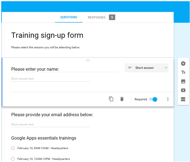 Google Forms Interfaces
