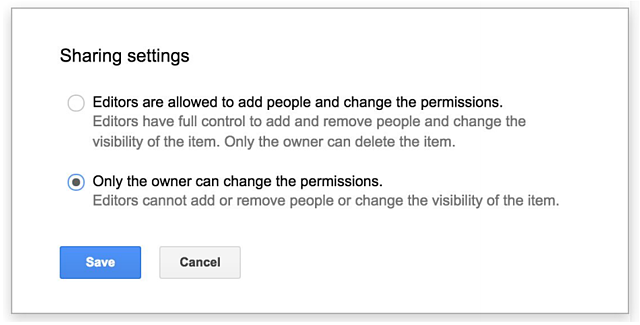 Sharing Settings in Google Drive | Cloudbakers