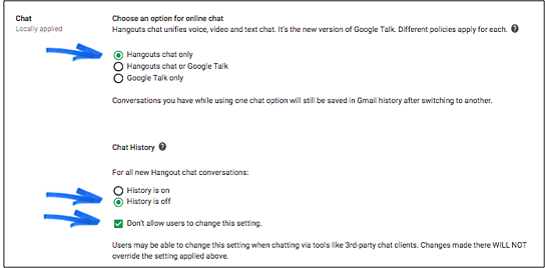 Google Hangouts History Options   Cloudbakers