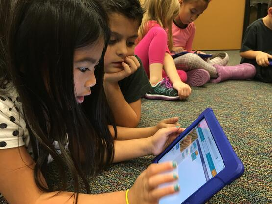 Hour of Code Activity on the iPad