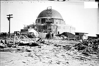 The Adler Planetarium in 1929, under construction in Chicago. CHICAGO HISTORY MUSEUM / GETTY IMAGES