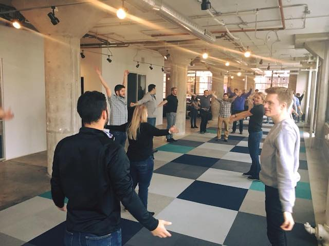 Yoga in the new office