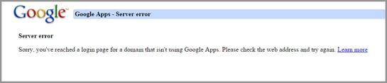 Roadblock: Google Apps Server Error | Cloudbakers