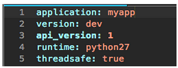 Example of a python yaml file