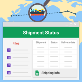 Shipment Status Using Google Sites