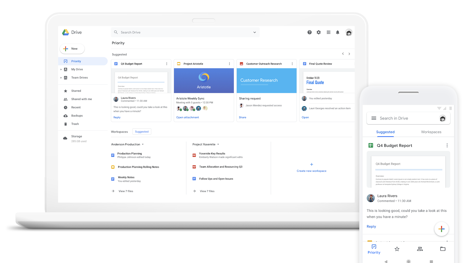 Workspaces in Google Drive