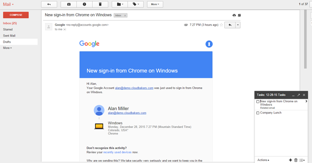 Google Tasks from an Email | Cloudbakers