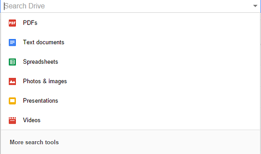 Search Google Drive by File Type   Cloudbakers