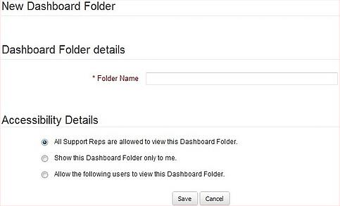Create New Dashboard Folder in Zoho CRM | Cloudbakers
