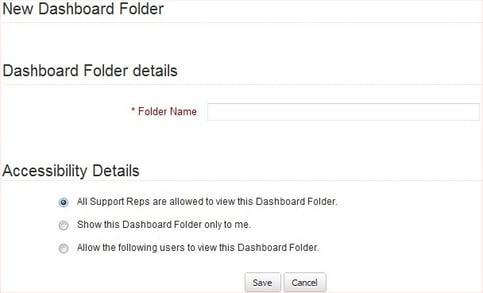 Create New Dashboard Folder in Zoho CRM | Cloudbakers