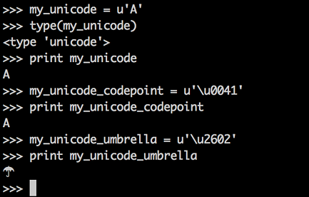 Unicode Objects