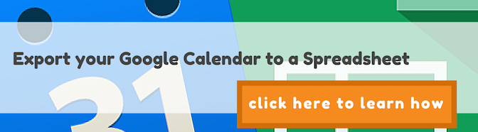 Export your Google Calendar to a Spreadsheet